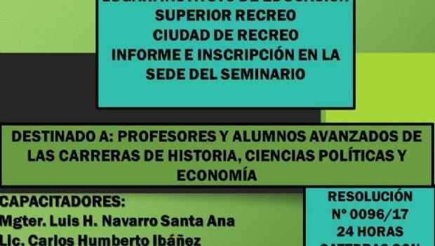 """Seminario de """"Actualización Política y Económica de Catamarca"""""""