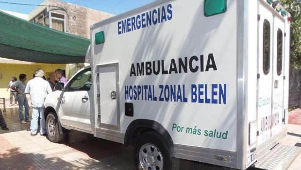 Dos heridos en un vuelco en Belén