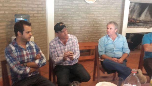 El senador Fernández se reunió con Fidel Sáenz y Enzo Carrizo