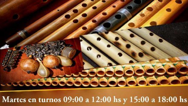 Taller de fabricación y ejecución de instrumentos andinos
