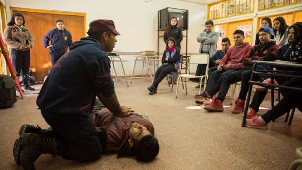 Brigadas Escolares brindaron un taller de RCP
