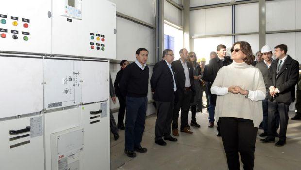Lucía inauguró una nueva obra de energía