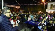 Jalil inauguró una canchita en La Viñita