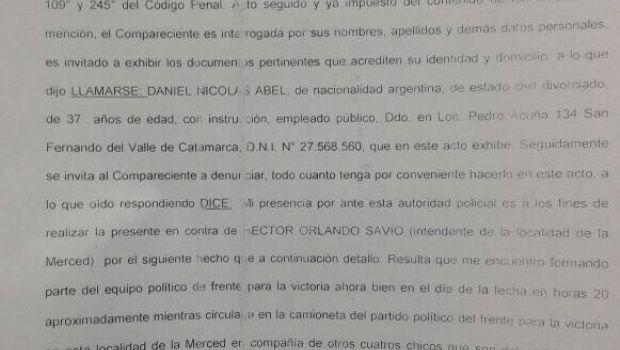 Denuncian al intendente Savio por violar la veda y agresiones