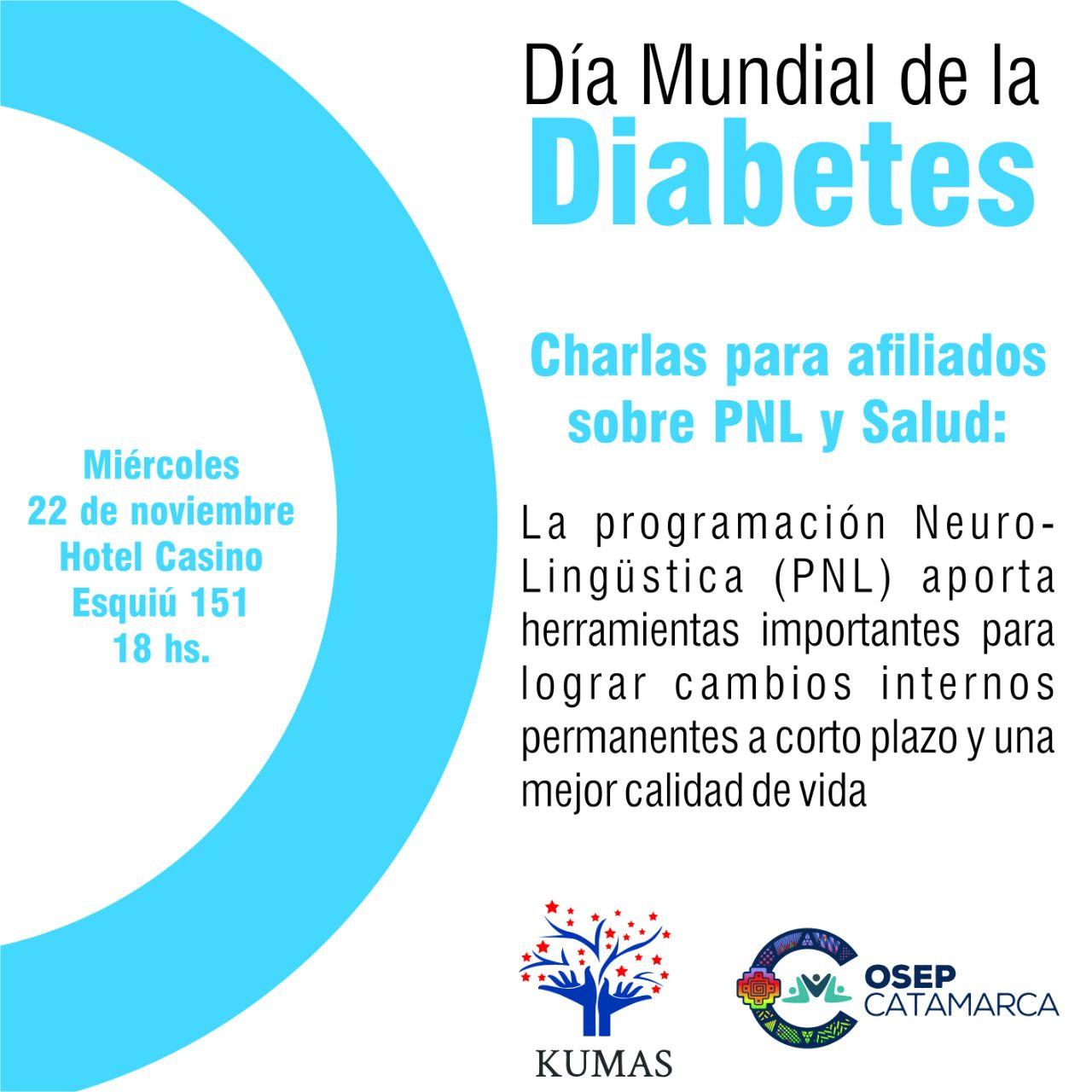 Charla sobre Programación Neurolingüística para diabéticos ...