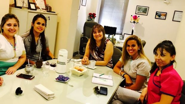 "Reunión con integrantes de ""Corazones Azules"""