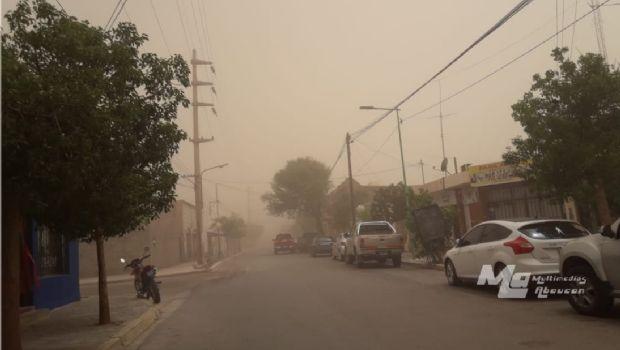 Fuerte tormenta de arena azotó a Fiambalá