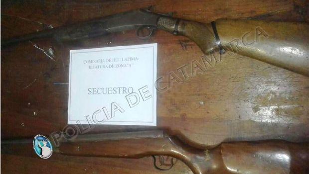 Secuestran un arma de fuego y un aire comprimido en Capayán