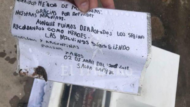 La conmovedora carta de una nena de 7 años a los soldados de Malvinas