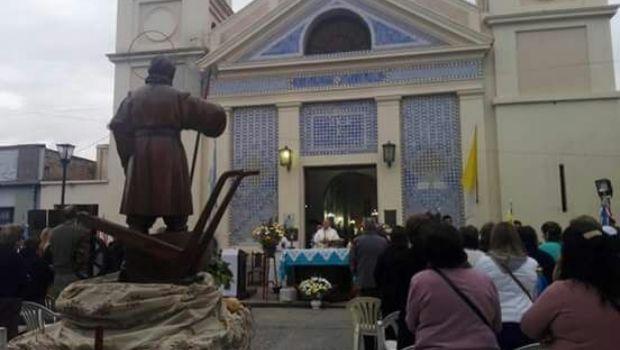 Procesión y misa en honor a San Isidro Labrador en Valle Viejo
