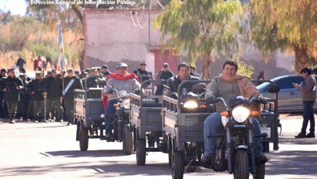 Motocarros para las delegaciones municipales de Tinogasta