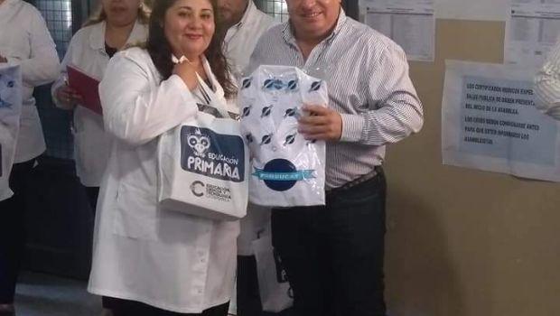 Comenzó entrega de guardapolvos y kits escolares en La Paz Norte