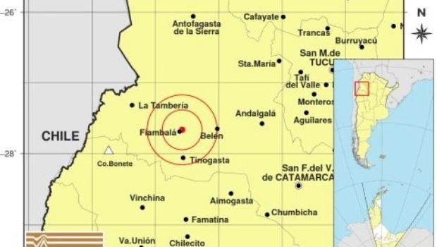 Dos temblores cerca de Fiambalá