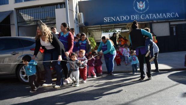 Exitoso simulacro de evacuación en el Anexo del Senado