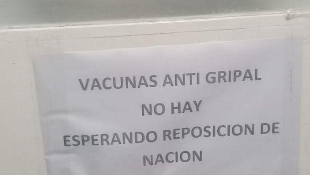 El Hospital de Villa Dolores también se quedó sin vacunas