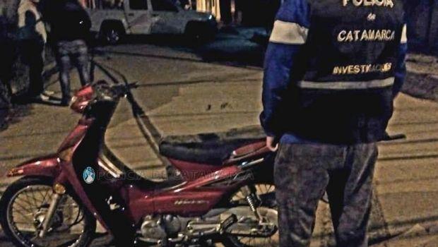 Recuperan una moto robada el lunes