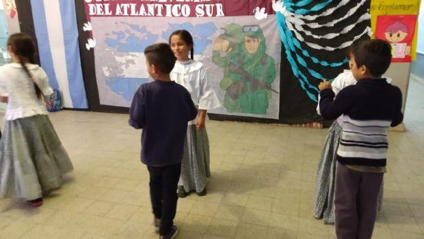 Emotivo acto por Malvinas en Valle Viejo