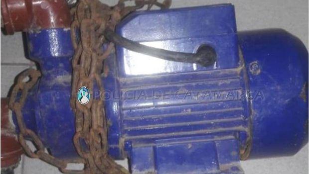 Recuperan herramientas y una bomba de agua robadas en Recreo