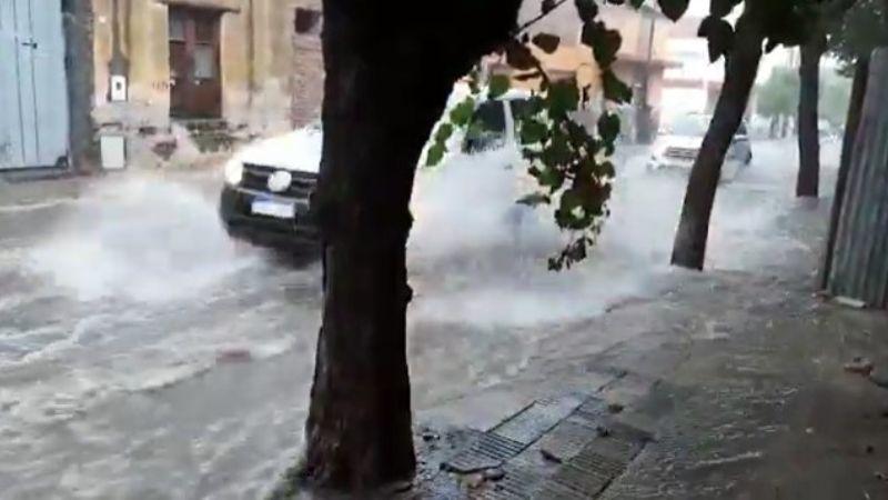 Diluvio y problemas en la Capital